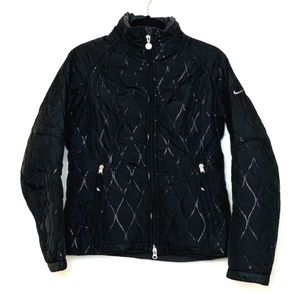Nike | Black Long Sleeve Zip Up Quilted Jacket Sm